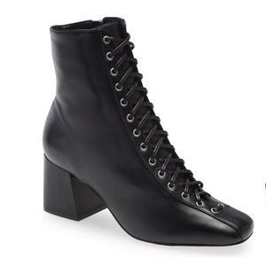 SCHUTZ | New Kika Lace Up Bootie Size 8.5 Black